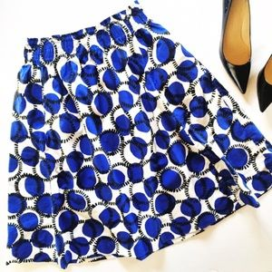 Kate Spade pleated full geo print midi skirt